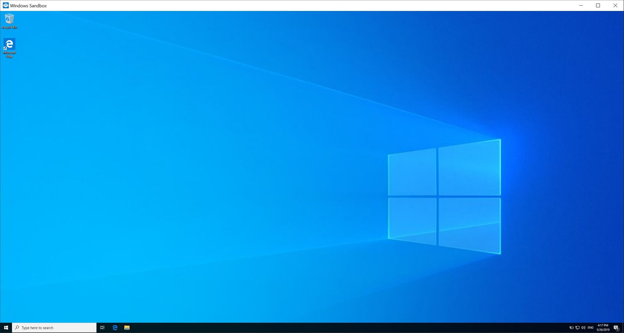 Windows 10 Sandbox